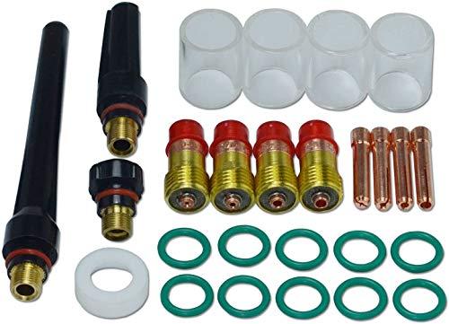 WIG Stubby Gas Objektiv Kits Pyrex-Becher Kit DB SR WP 17 18 26 WIG Schweißbrenner 26St