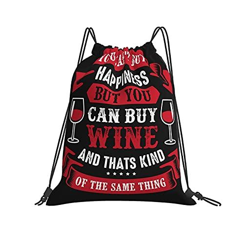 Bolsa clásica con cordón para vino, con cita divertida y frase para gimnasio, con cordón, mochila de poliéster, para hombres y mujeres