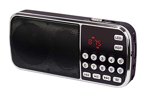 DynaVox 207240 FMP3 Bass Boost MP3-Radio schwarz
