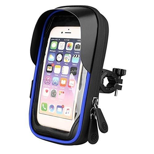 2020 Jans Ge'Shop Fahrradtasche wasserdichte Lenkerhalterung Mountainbike Frontträger-Tasche Reitausrüstung Navigation Touchscreen-Handy-Beutel (Color : BL)