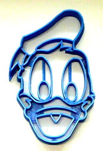 DONALD DUCK FACE HEAD BOYFRIEND OF DAISY BEST FRIEND OF MICKEY MOUSE CLUBHOUSE MINNIE SPECIAL OCCASION COOKIE CUTTER BAKING TOOL 3D PRINTED MADE IN USA PR2888