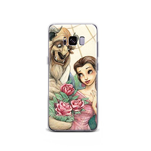 GSPSTORE Galaxy Note 8 Case Beauty and The Beast Cartoon Hard Plastic Protector iPhone Case Cover for Samsung Galaxy Note 8