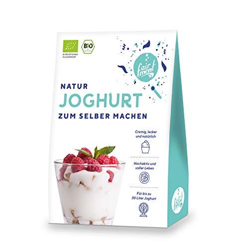 Fairment Bio Joghurtkulturen für Naturjoghurt - Joghurtferment Starterkulturen für bis zu 30x 1 Liter Naturjoghurt zum Selber Machen
