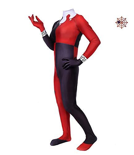 Costume De Spiderman Harley Quinn Costume Déguisement Enfant Combinaison Cosplay Collants Halloween Fête À Thème Onésies Robe Carnaval,Men-XXL