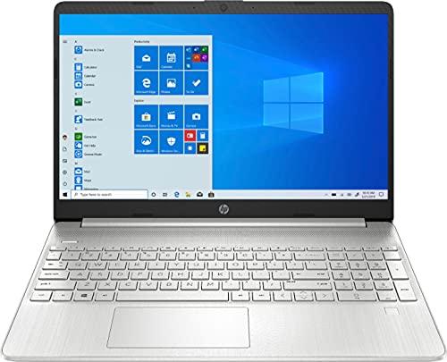 "2021 Newest HP 15.6"" FHD IPS Touchscreen Laptop PC Intel i7-1065G7 Quad-Core Processor 12GB DDR4 RAM 256GB NVMe SSD Intel Iris Plus Graphics Webcam, HDMI Silver Windows 10 Home w/RE 32GB USB 3.0 Drive"