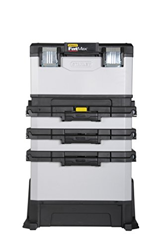 Stanley FatMax Rollende Werkstatt aus Metall-Kunststoff 1-95-622 – Werkzeugwagen leer – Vielseitige Werkzeugbox für Kleinteile und große Werkzeuge - 3