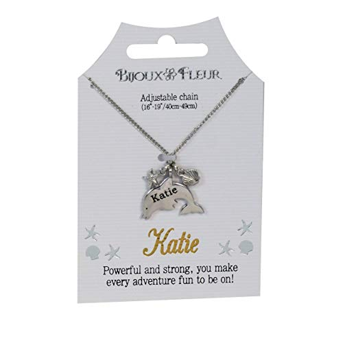 Bijoux Fleur Dolphin Necklace - 76 Names Available A-W (Katie)