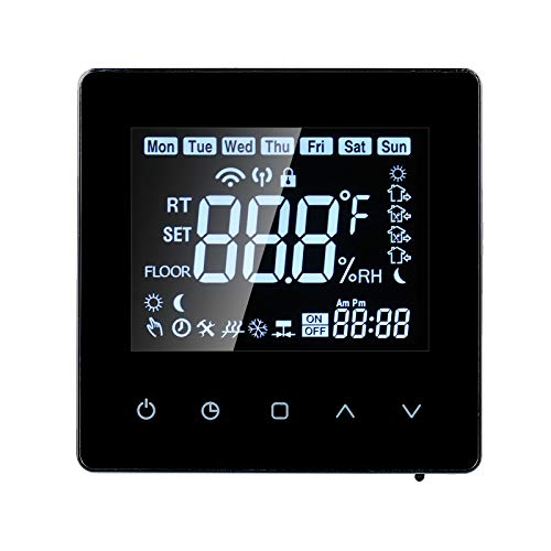 Smart Thermostat, alexa Thermostats for home, LCD Touch-screen Programmable Thermostat Gas Boiler Heating, 3A Digital Temperature Controller for Home School Office Hotel