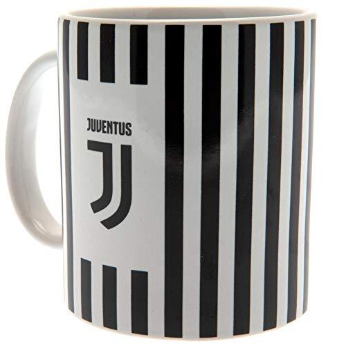 Juventus Ufficiale New Crest tazza in ceramica bianco e nero a righ