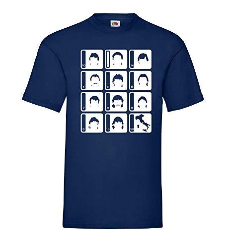 Generisch Weltmeistermannschaft 1990 Alemania Hombre Camiseta - shirt84 - Azul Marino, XXL