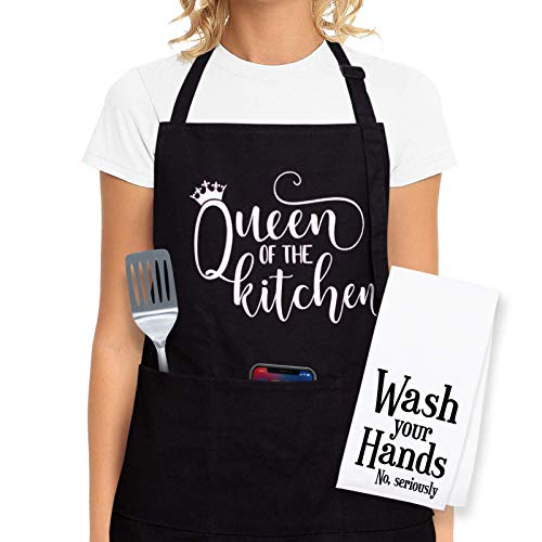 Cooking Aprons For Women  Funny Aprons For Women Cooking Gifts For Women Who Love to Cook  Kitchen Aprons For Women with Pockets  Mothers Day Gifts Christmas Gifts for Women Funny Gifts for Mom