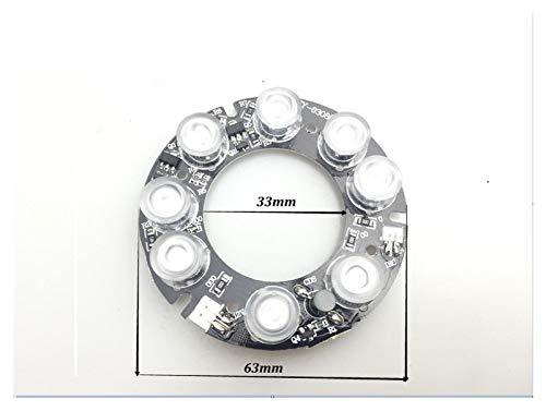 Tablero Nano-infrarrojo 8Array FY-6308 IR LED para cámaras IR visión nocturna diámetro exterior 63mm diámetro interior 33mm JIADUOBAO