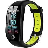 HAOYF Fitness Tracker Mit Blutdruck Sauerstoff Herzfrequenz Schlafmonitor, IP68 wasserdichte Smart Fitness Uhr Mit Schrittzähler Anrufnachricht GPS Aktivitäts Tracker Für Frauen Männer Kinder,Grün