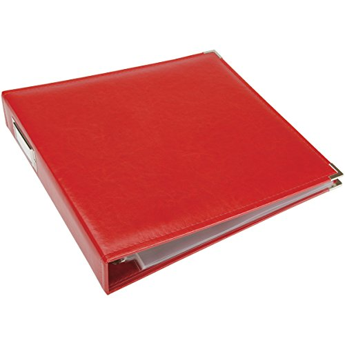 We R Memory Keepers We R Classic Leather D-Ring Album 30 x 30 cm, vermelho real