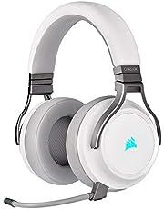 Corsair コルセア VIRTUOSO RGB WIRELESS White ワイヤレスゲーミングヘッドセット 無線/有線/USB対応 CA-9011186-AP SP893