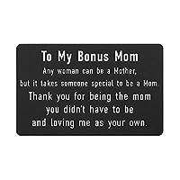 娘から義母へのギフト 刻印入りウォレットインサートカード Step Mom 義母への感謝 お母さんへの誕生日ギフト 母の日記念品