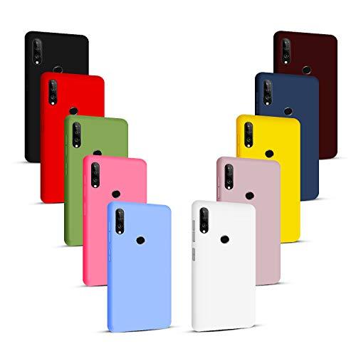 NUDGE 10X Fundas para Huawei P30 Lite,Carcasa Silicona de Color Sólido Anticaída,Cubierta Flexible Ultrafina a Prueba de Arañazos y Golpes