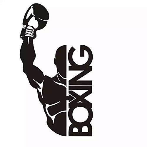 WERWN Kreative Mode Kunst Boxhandschuh Aufkleber Taekwondo Wettbewerb Auto Free Fight Vinyl Wandaufkleber Dekoration