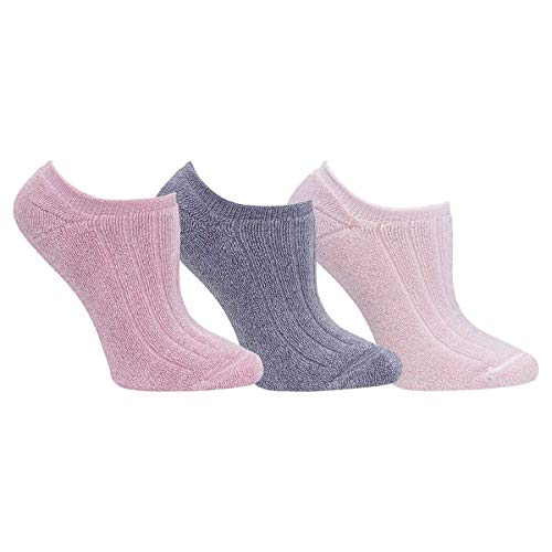 Yummie Women's Reversible Comfort Socks 3 Pair Pack (Pink)