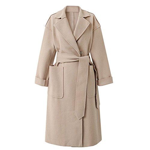 Herfst winter wollen jas dames winterjas vrouwen windbreaker trenchcoat dames FRAUIT Parisian Street Elegant reizen business kleding blouse tops