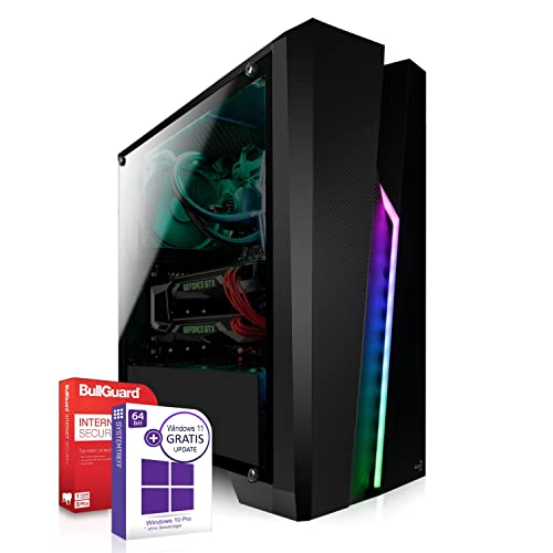 AMD Ryzen 3 4300G 4x4.0GHz Turbo PC-System inkl. 512GB M2 SSD und 1000GB   16GB RAM  VEGA6 DX12 HDMI   Win 10 64Bit   WLAN  Leise ! Geeignet für Gaming/Office