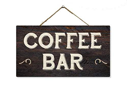 Chico Creek Signs Coffee Bar Sign Decor Wood Signs Decorations Hanging Wooden Farmhouse Wall Art Home Rustic Country Kitchen Station Nook Corner Shop 5x10 Gift SP-05100002026