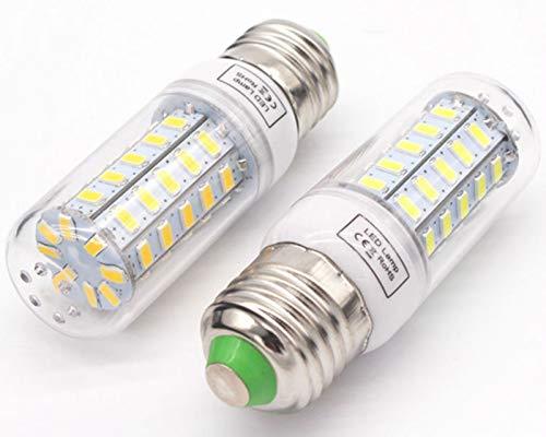 HJYUIK E27 / E14 LED Luz De Maíz, Bombilla De Ahorro De Energía 7W -25W, Bombillas AC200-240V Tornillo De Edison LED, Cálido/Fresco Blanco 3000K / 6500K, E27, 25W 72Leds, Setsx2,7w,E27 Cool