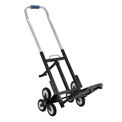 Happybuy - Einkaufstrolley, für Treppen geeignet, faltbar, belastbar bis 190kg, Einkaufswagen, mit Ersatzrädern