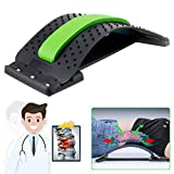 Back Stretcher, Lumbar Back Pain Relief, Multi-Level Lumbar Support Device, Back Massager Pain Relief, Lower and Upper Back Stretcher Support (Green)
