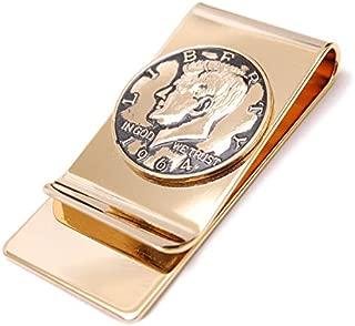 マネークリップ カード 日本製 人気 コイン ハーフダラー ケネディ