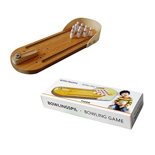 Mini Bowling Brettspiel, Holz Kinder Pädagogische Innovation Spielzeug für Erwachsene und Kinder Druckentlastung