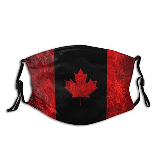 Máscara facial con bandera de Canadá para adultos y antipolvo, máscara facial suave, transpirable, cortavientos, para hombre y mujer