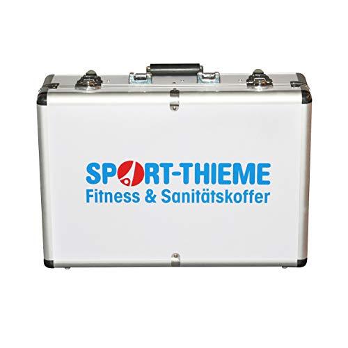 Sport-Thieme Erste-Hilfe-Koffer mit Inhalt   Alu Sanitätskoffer für Fussball, Handball, Sport   Befüllt nach DIN 13160 + Kühlspray   Variable Fachaufteilung   45x32x14 cm   5,5 kg