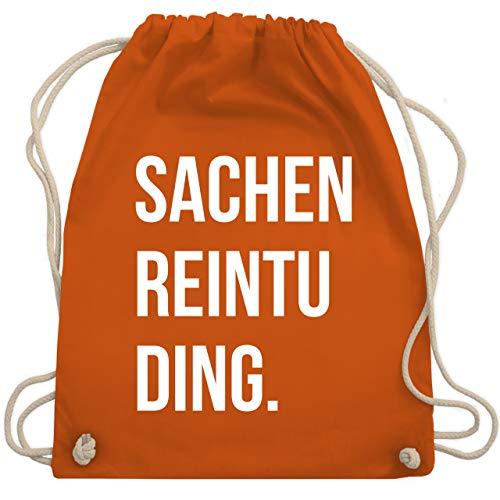 Shirtracer Festival Turnbeutel - Sachenreintuding - Unisize - Orange - sportbeutel - WM110 - Turnbeutel und Stoffbeutel aus Baumwolle