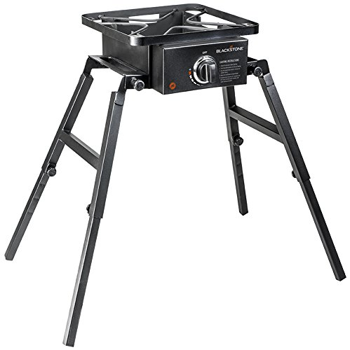 Blackstone Single Burner Camp Stove  Portable  Adjustable Legs for Uneven Terrain  Anywhere Stove