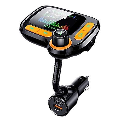 Youmine Transmisor FM para Coche Adaptador de Radio MP3 Llamada Manos Libres Puerto USB con MóDulo Transmisor FM de Carga RáPida