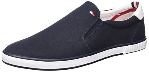 Tommy Hilfiger Herren Iconic Slip ON Sneaker Low-Top, Blau (Midnight 403), 42 EU