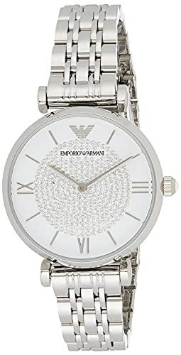 Emporio Armani Damen Analog Quarz Uhr mit Edelstahl Armband AR1925