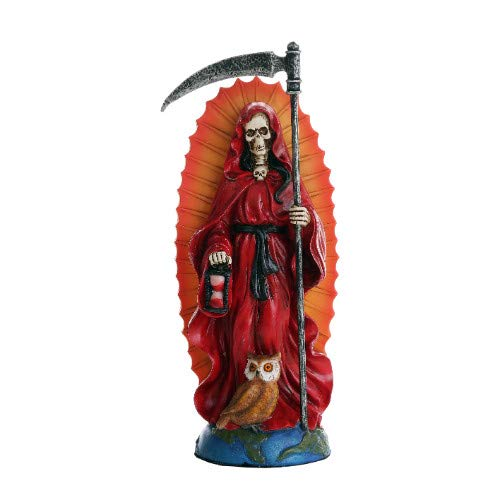 Pacific Giftware Santa Muerte Saint of Holy Death Standing Religious Statue 7.25 Inch (Red) Love Passion Relationship Santisima Muerte Sculpture