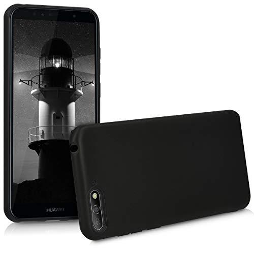 kwmobile Hülle kompatibel mit Huawei Y6 (2018) - Hülle Silikon - Soft Handyhülle - Handy Hülle in Schwarz matt