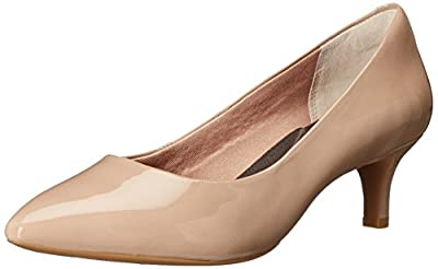 Rockport Women's Total Motion Kalila Pump Warm Taupe Patent 6 M