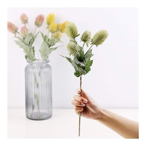 Roovtap Künstliche Pflanze Blume Distel Blume, AST, nach Hause Wedding Partei-Dekoration-Blume Dried Flower (Color : E)