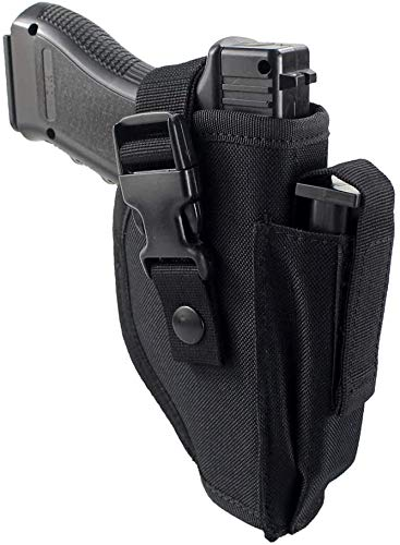 TACwolf Tactical Belt Holster with Mag Pouch Universal Outside for Right Waistband Holster
