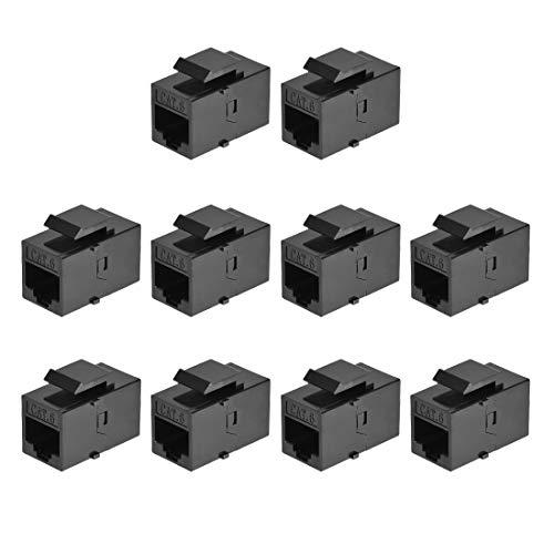 uxcell RJ45 Ethernet Extender Coupler Insert Jack Cat6 Female to...