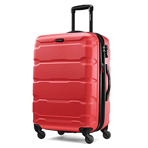 Samsonite Omni Expandable Hardside Luggage with Spinner Wheels, Red