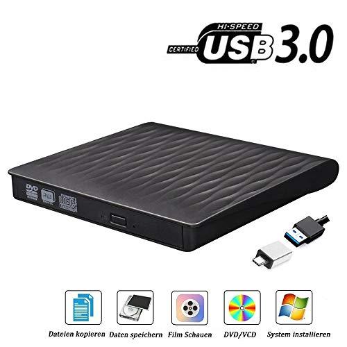 ourvann Externes CD DVD USB3.0 USB Typ c Laufwerk Brenner, Superdrive für Alle Laptops/Desktop Unter Windows und Mac OS für MacBook, MacBook Pro, MacbookAir, iMac