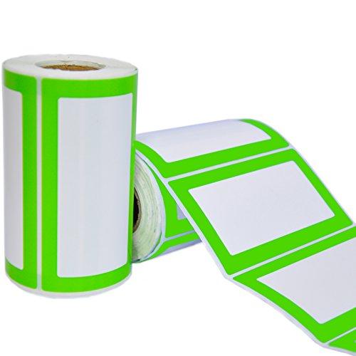 Etiquetas Adhesivas de Nombre Colores - 2 Rollos con 500 Pegatinas en Total - 9 x 5 cm - Etiquetas Personalizadas para Regalos, Frascos, Carpetas, Oficina, Fiestas de Cumpleaños y Ropa de Niños