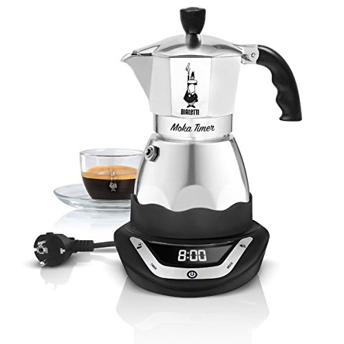 MOKA ELETTRICA CON TIMER PROGRAMMABILE BIALETTI MOKA TIMER CAFFETTIERA ELETTRICA 3 TAZZE CON BASE PROGRAMMABILE A LED E SUONERIA CON 3 LIVELLI DI VOLUME
