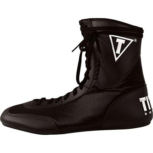 adidas boxing shoes womens Title Speed-Flex Encore Mid Boxing Shoes, Black, 3