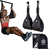Zeus X Hanging Ab Straps – Pull Up Bar Gym Equipment Abs Exerciser - for Men & Women - Abdominal Core Muscle Exercise Trainer - Comfortable Padding - Bonus Bag Included